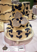 Ashley Bakery Wedding Cake at Charlotte Convention Center