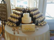 Lace cupcakes and 2 tier