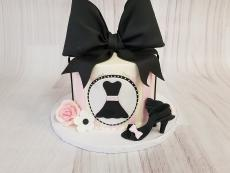 dress silhouette with bow